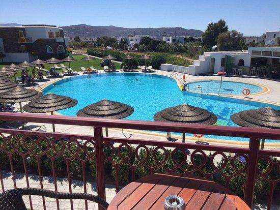 Aegean Land: The pool area