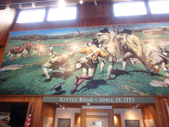 Battle Road Trail: Depiction Of Battle