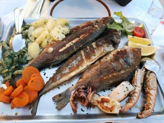 Supetarska Draga, Croácia: Piatto di pesce alla griglia