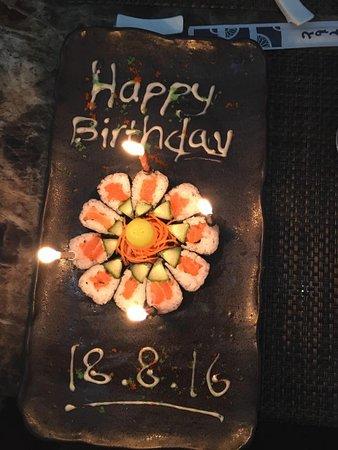 Sushi Birthday Cake Picture of Sumo Japanese Cuisine Taunton