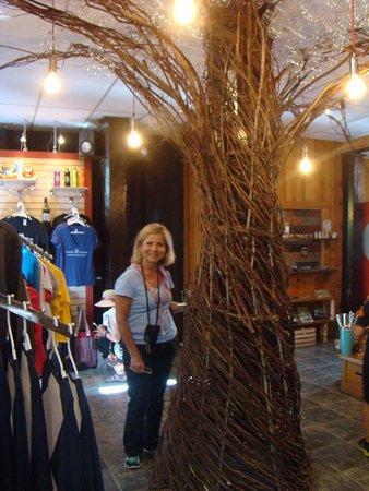 Parc de la Gorge de Coaticook: interior da loja do parque