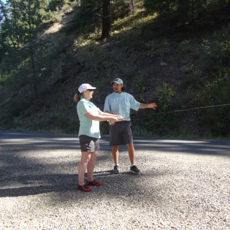Ellensburg, Waszyngton: Gino teaching me to cast