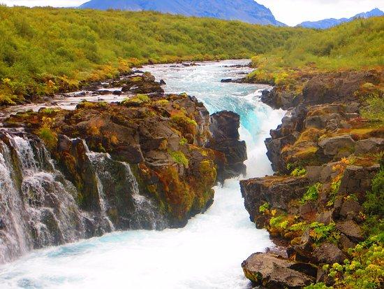 Bruarfoss Waterfall 蒂芬尼藍瀑布