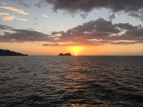 Playa Hermosa, Costa Rica: Watching the sun set from the Spirit of the Ocean!