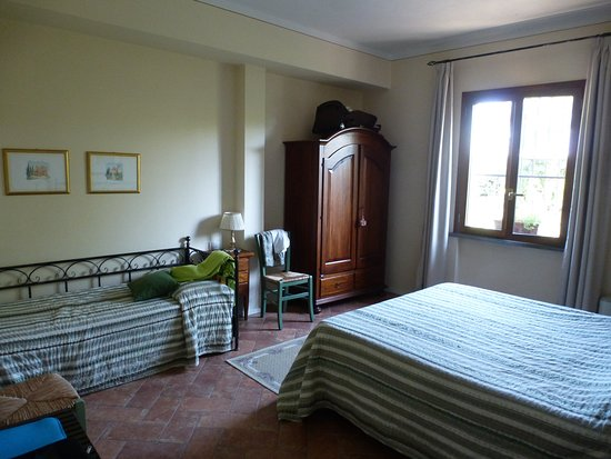 Castelfiorentino, Italy: La chambre 1 de la suite verte (petit lit)