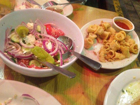 Astoria, NY: salad & calarari