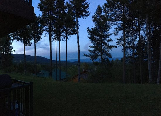 Kimberley, Kanada: Evening patio view