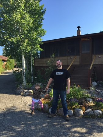 Grand Lake Lodge: In front of the Ford Cabin (#16)