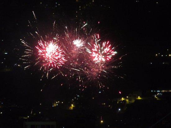 Palacio de Gobierno: 08/10/2016 Fireworks Seen from Kinde House B&B