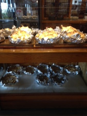 Highland, IL: Homemade pies all along the counters
