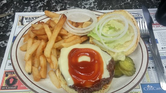 Frazer, PA: Cheeseburger & fries!
