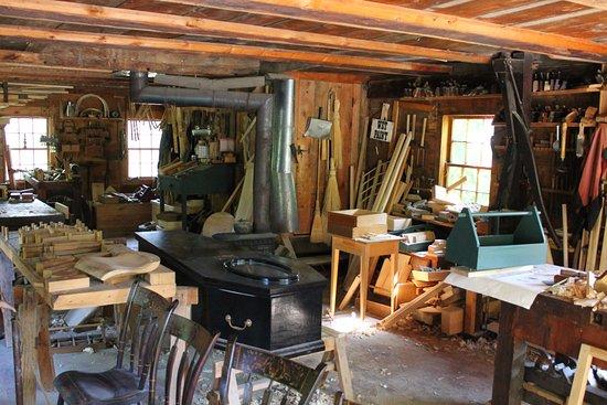 Morrisburg, Kanada: Cabinet maker's shop.