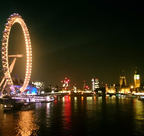 View From The Golden Jubilee Bridge Towards The London Eye And Along