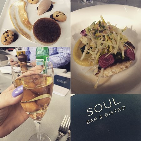 Soul Bar and Bistro: Desert, Fish Main, Champange on arrival