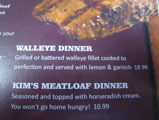Harrison, AR: menu (don't order the meatloaf)