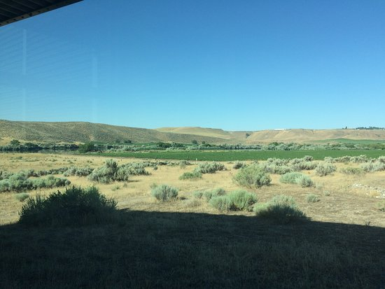 Glenns Ferry, ID: The view of the Snake River from inside the musuem