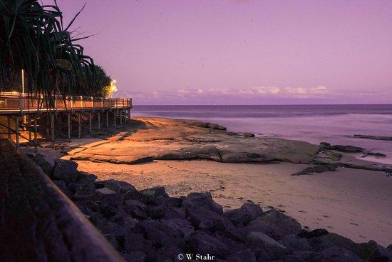 Caloundra, Australia: Long exposure - sunset shot at Bulcock beach.