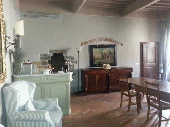 San Donato in Poggio, Italië: The breakfast room