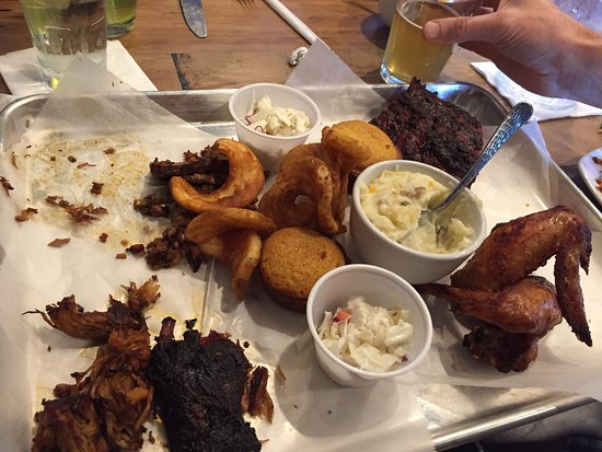 Mukwonago, WI: BBQ and meat tray!