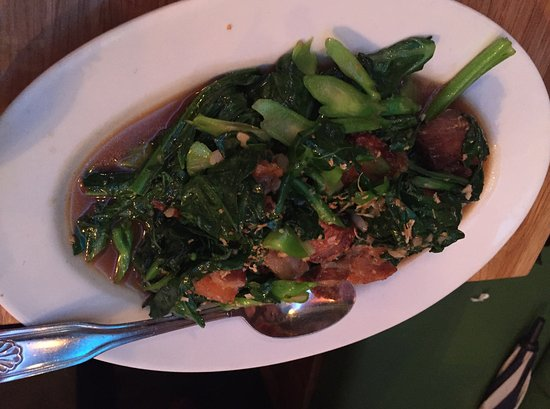 Elmhurst, État de New York : Chinese brocolli and bacon
