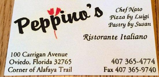 Peppino S Italian Restaurant: Peppino's Ristorante Italiano, Oviedo
