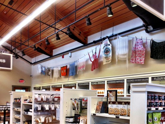 Norwich, VT: Snazzy aprons hang from the ceiling