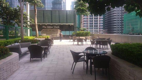 Near the pool area