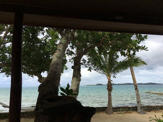 Toberua Island, Fiji: View from patio
