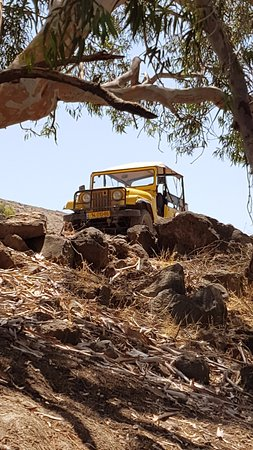 Galilee, Israël : Oded's vintage open jeep, on the Golan Heights