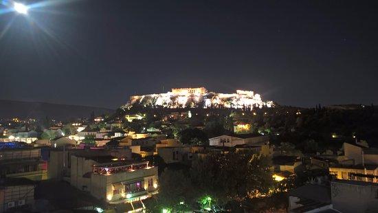 Pella-Inn Hotel: вид с бара на крыше