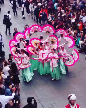 Folkdance Parade in Zacatecas, Mexico August 2016