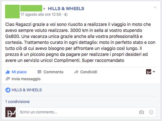 Monchiero, İtalya: Hills & Wheels - Feedback from our customers