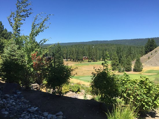 Cle Elum, วอชิงตัน: view from the patio of the golf coarse