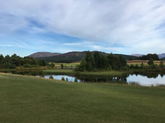 Spey Valley Golf Course : View of Craingorn Mountains.