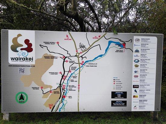 Ταούπο, Νέα Ζηλανδία: Map of Huka Falls