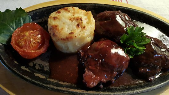 L'Auberge des Mille Etangs : joue de porc dans sa sauce au vin