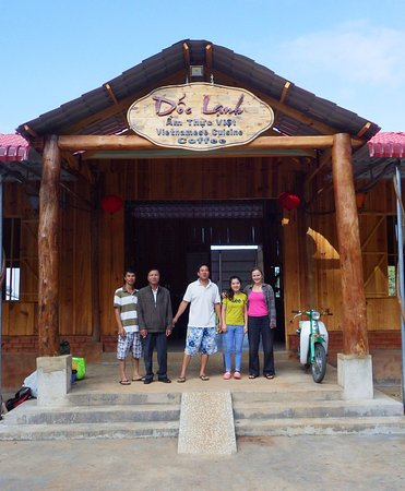 Lam Dong Province, Vietnam: The main entrance to Dốc Lạnh with the owner and his family.