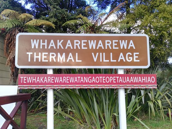 Whakarewarewa: The Living Maori Village : The village sign