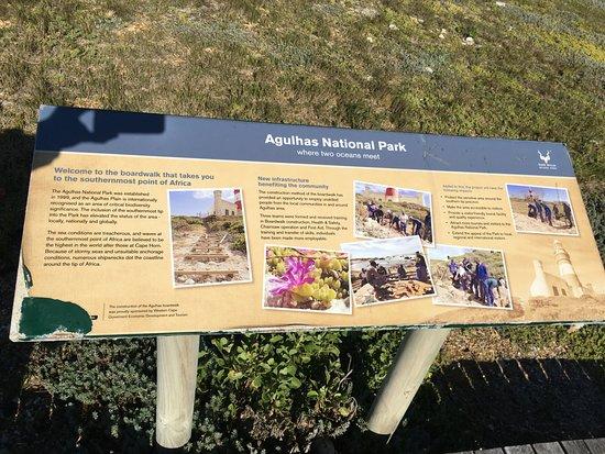 Cape Agulhas, Sudáfrica: Signpost