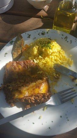 Centurion, Sydafrika: babotie and rice