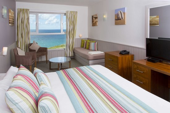 Sands Resort Hotel & Spa: sea view double newquay cornwall