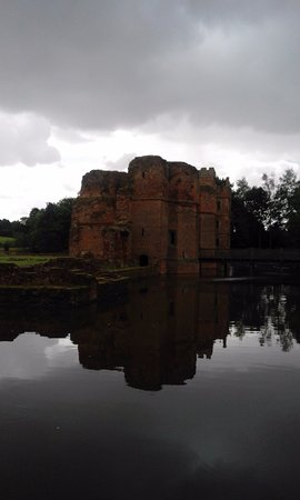 Kirby Muxloe, UK: View of Gatehouse and West tower from Northern Corner of Moat