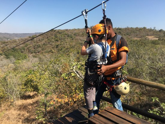 Hazyview, Sudáfrica: Skyway Trails, Aerial Cable Trail