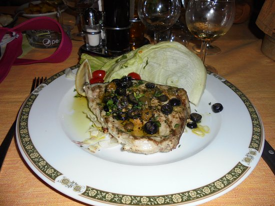 Bucine, Italy: Swordfish Steak