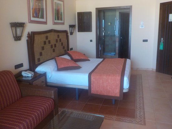 Hotel Riu Touareg Room In S Section Bathroom Background Sofa Converts To