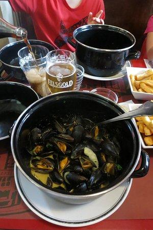 Villerville, Frankrig: Les moules au curry