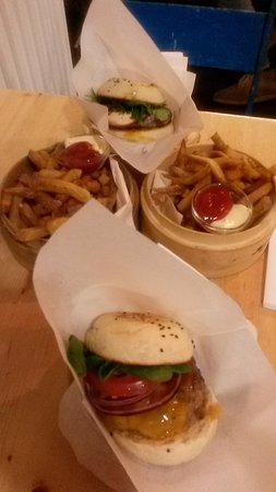 Shiso Burger: Shiso and cheese burger with fries