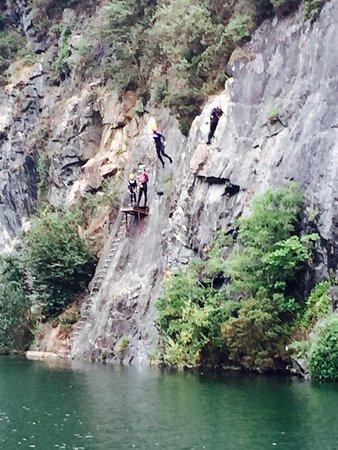 Menheniot, UK: Highest ledge ... gulp