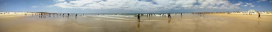 Panoramic shot of Altura beach, by the water