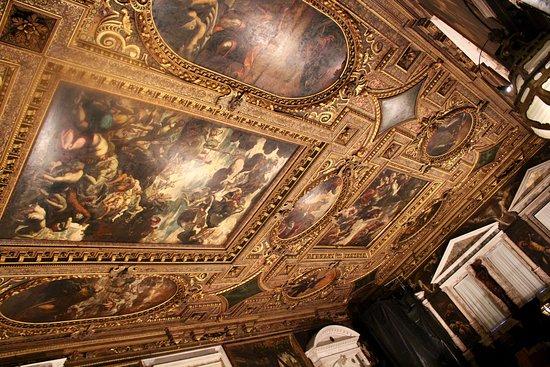 Scuola Grande di San Rocco: soffitto sala primo piano